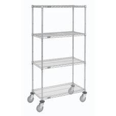 Wire Shelf Stem Caster Truck W/Polyurethane Wheels W/ Brakes - 18