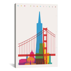 San Francisco by Yoni Alter Gallery Wrapped Canvas Artwork