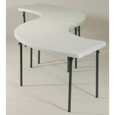 Blow-Molded Plastic Top Serpentine Buffet Table Grouping