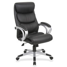 Lorell High -Back Executive Chair - Leather - 30