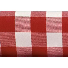 Set of 12 Visa Checkpoint 17'' x 17'' Overlocked Plain Weave Cloth Napkin - Red and White