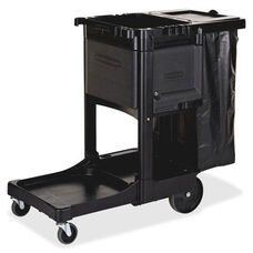Rubbermaid Commercial Products Executive Janitor Cleaning Cart - 11.8