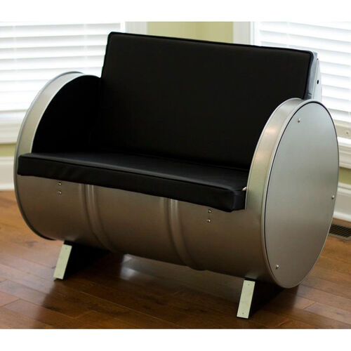 Our P-51 Steel Drum Armchair with Black Accents is on sale now.