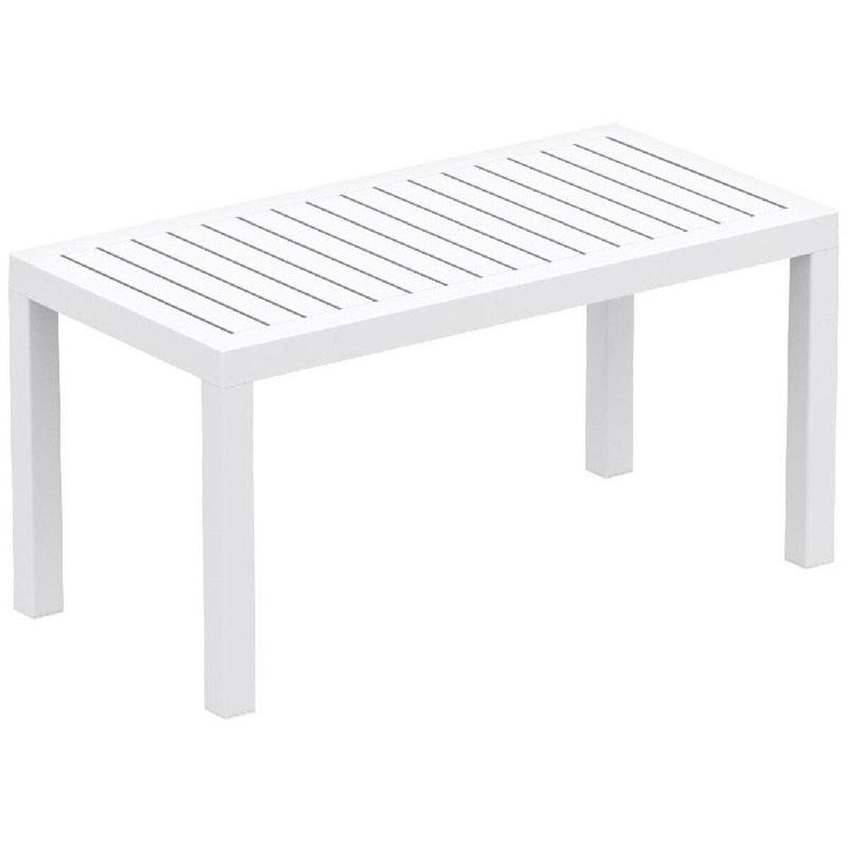 Our Ocean Outdoor Resin Rectangle Coffee Table White Is On Now