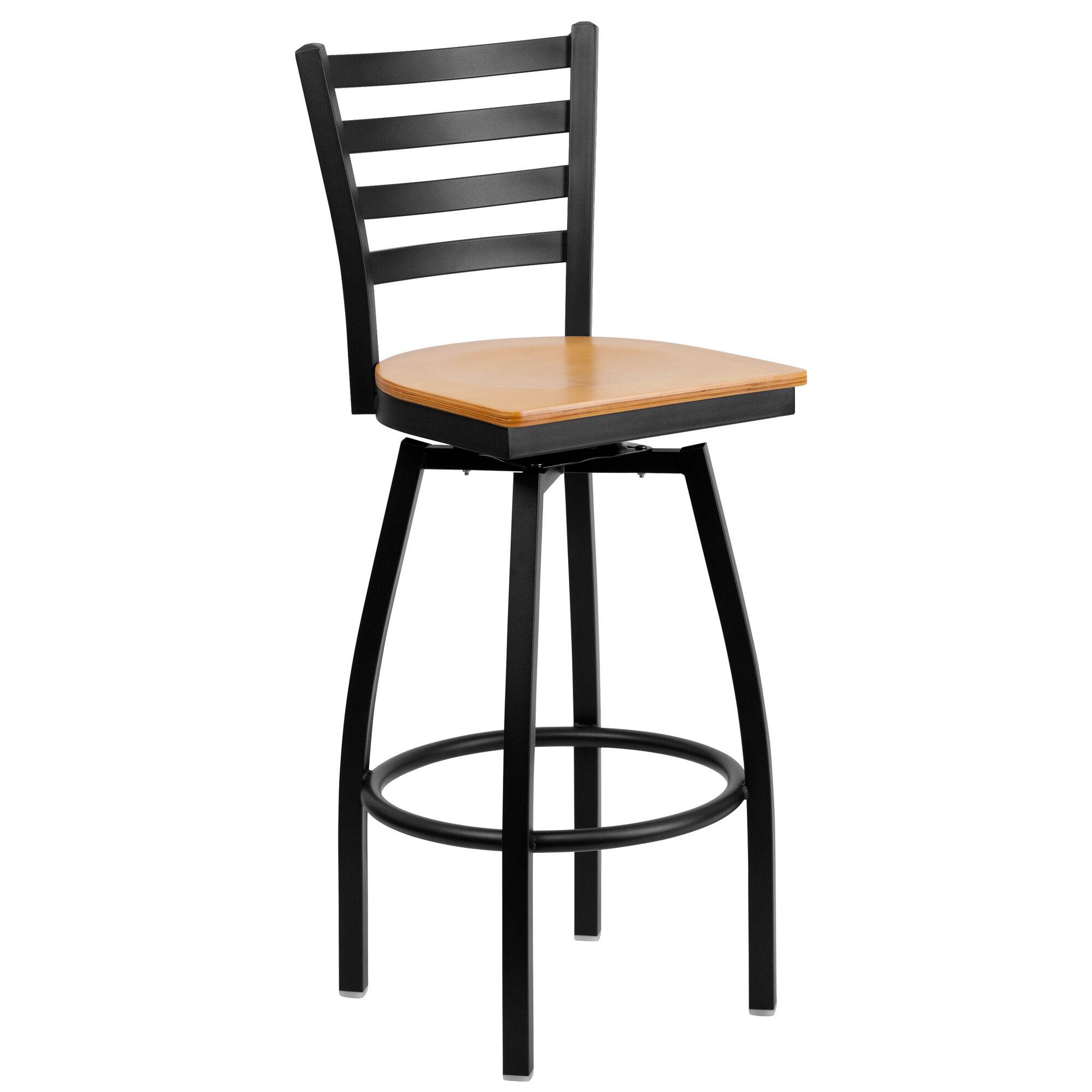 Black Ladder Stool Nat Seat Bfdh 706688lad Nat Bar Tdr