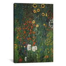 Farm Garden with Sunflowers 1912 by Gustav Klimt Gallery Wrapped Canvas Artwork