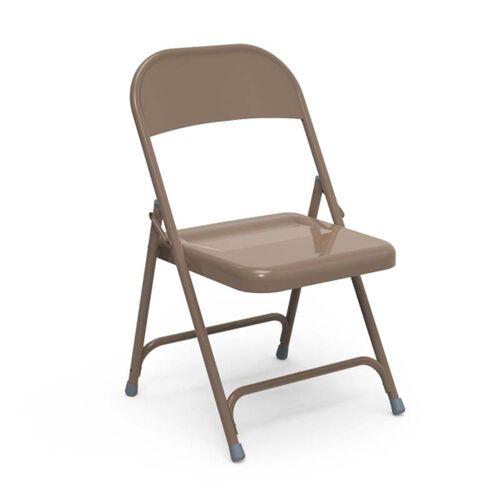 Multi-Purpose Steel Folding Chair with El Dorado Bronze Finish - 17.75