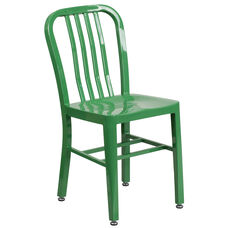 Green Metal Indoor-Outdoor Chair