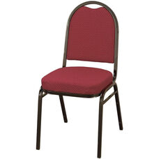 Quick Ship 500 Series Stacking Armless Hospitality Chair with Rounded Back and 2'' Upholstered Seat