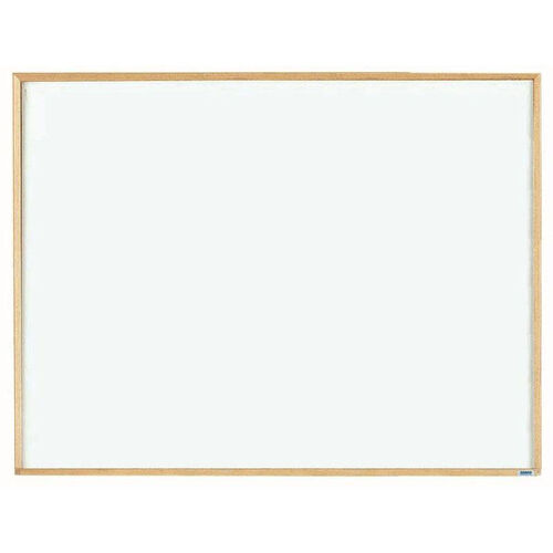 Our Economy Series White Melamine Marker Board with Wood Frame - 36