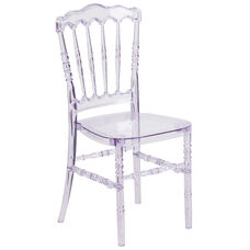 Flash Elegance Crystal Ice Stacking Napoleon Chair