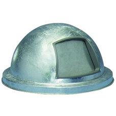 Galvanized Steel All Weather Dome-Top Outdoor Drum Cover with Push Door