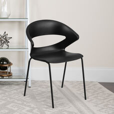 HERCULES Series 440 lb. Capacity Black Stack Chair