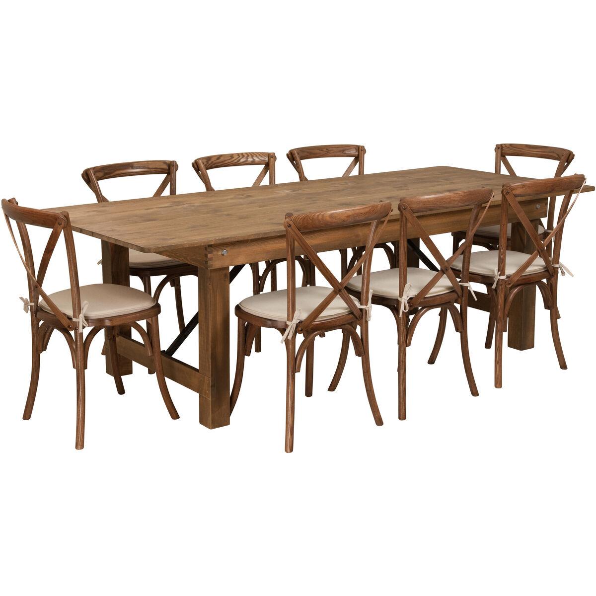 8 X40 Quot Farm Table 8 Chair Set Xa Farm 12 Gg