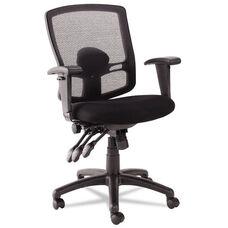 Alera® Etros Series Petite Mid-Back Multifunction Mesh Chair - Black