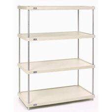 Solid Plastic - 4 Shelf Unit-Poly-Z-Brite - 18