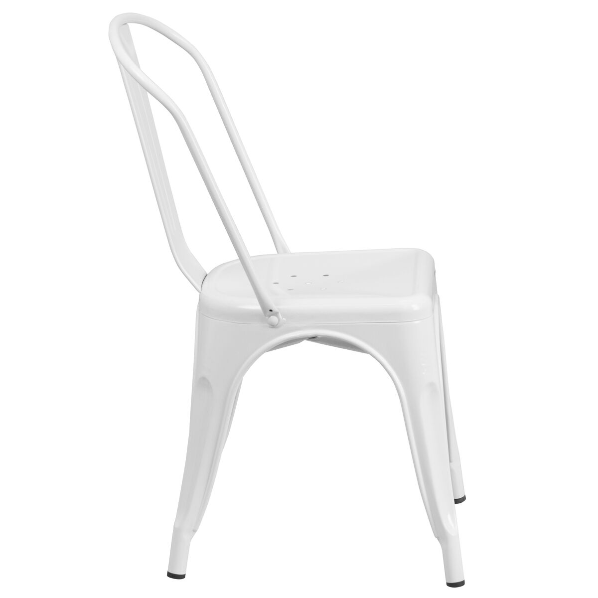 Awesome White Metal Indoor Outdoor Stackable Chair Unemploymentrelief Wooden Chair Designs For Living Room Unemploymentrelieforg