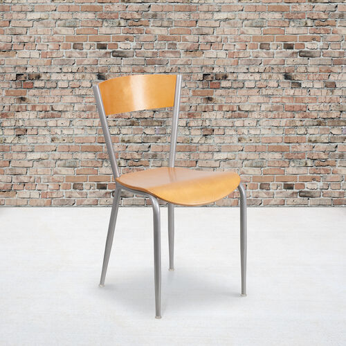 Our Metal Restaurant Chair with Natural Wood Back & Seat is on sale now.