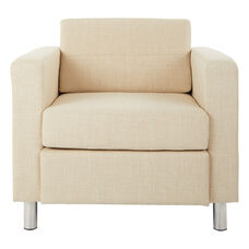 Ave Six Pacific Arm Chair with Chrome Finish Legs - Cream