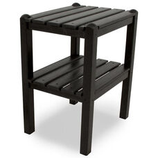 POLYWOOD® Two Shelf Side Table - Black