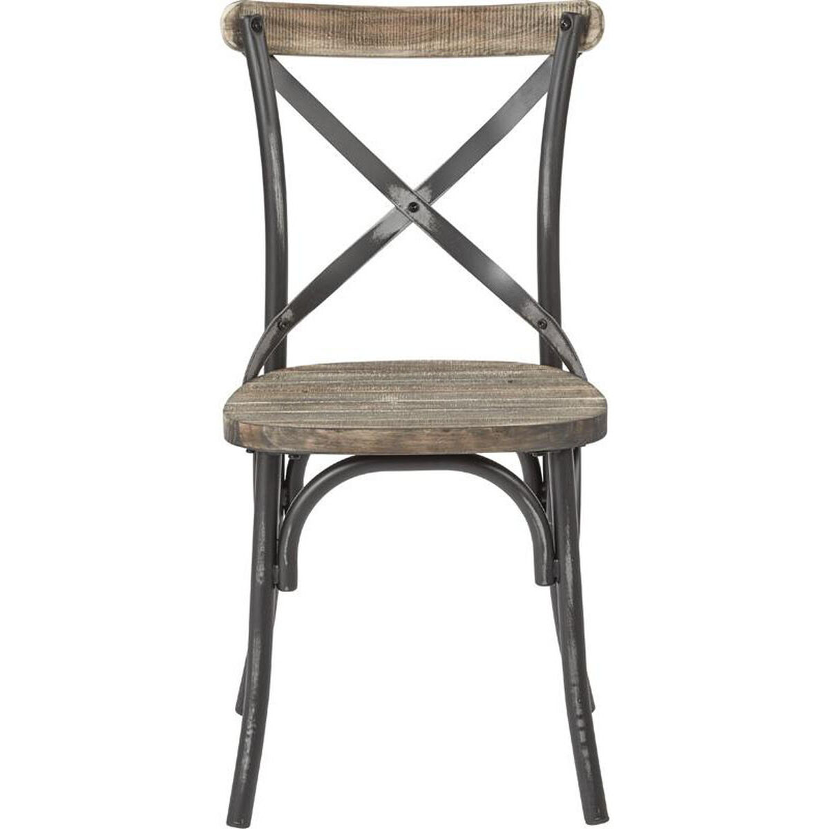 ... Our OSP Designs Somerset X-Back Antique Metal Chair with Hardwood  Walnut Seat Finish - - Somerset Black Metal Chair SMR424WAS-AB RestaurantFurniture4Less.com