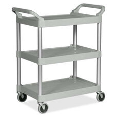Rubbermaid Commercial Products 3-Shelf Economy Plastic Utility Cart - 21.5