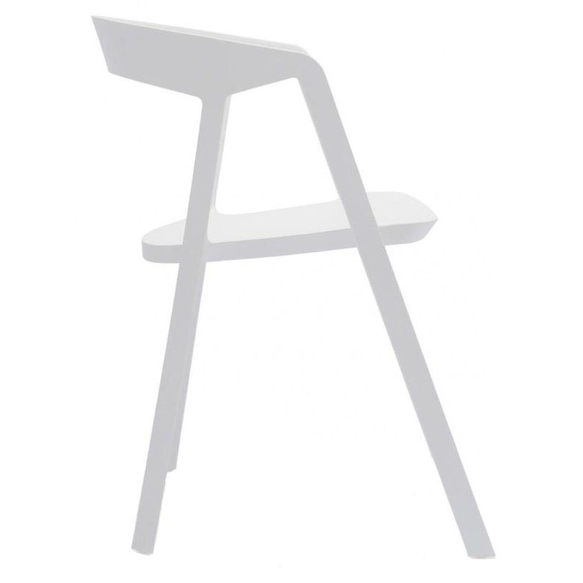 Set Of 4 White Stack Arm Chairs Ls 9901 Wht