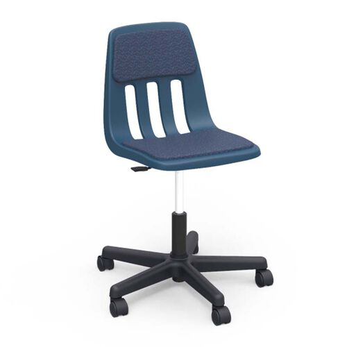 9000 Classic Series Sedona Sailor Upholstered Task Chair with Navy Polypropylene Seat - 25