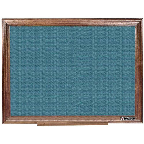 Our 114 Series Wood Frame Tackboard - Designer Fabric - 36