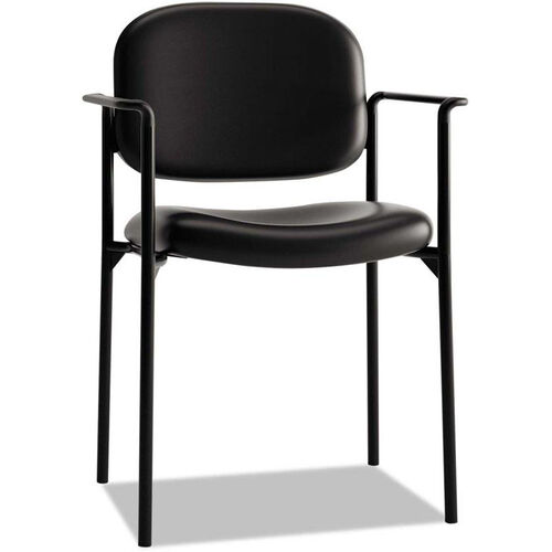 Our Basyx® VL616 Series Contemporary Stacking Guest Arm Chair - Black Leather is on sale now.