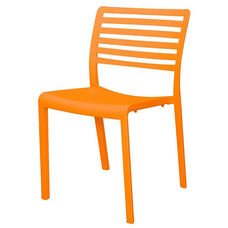 Savannah Outdoor Stackable Armless Side Chair - Orange
