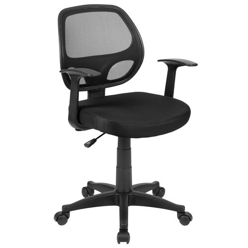 Our Mid-Back Black Mesh Swivel Ergonomic Task Office Chair with T-Arms - Desk Chair, BIFMA Certified is on sale now.