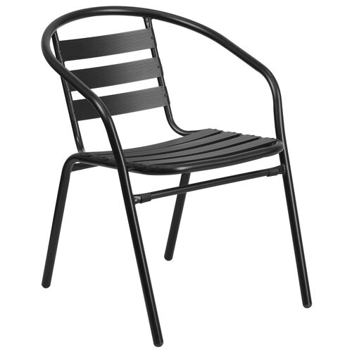 Our Black Metal Restaurant Stack Chair with Aluminum Slats is on sale now.