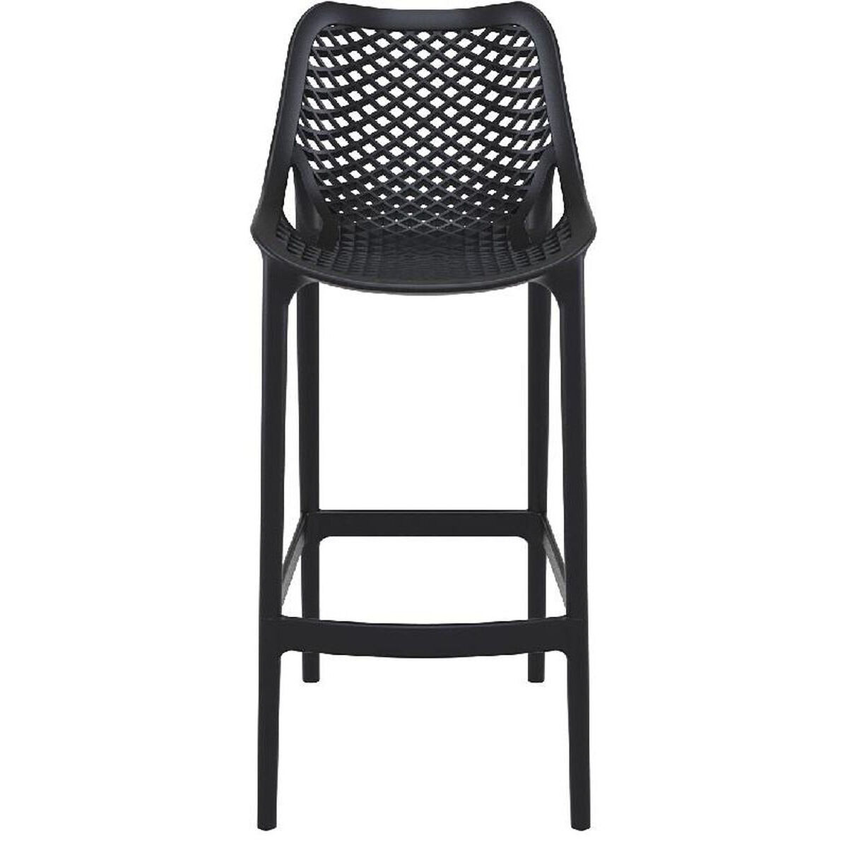 Black Resin Outdoor Barstool Isp068 Bla