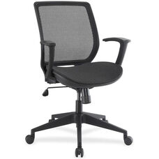 Lorell Mesh Mid-Back Executive Chair with Castors - Black