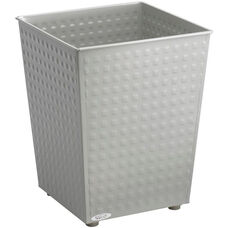 At-Your-Disposal® 6 Gallon Checks Wastebaskets - Set of Three - Gray