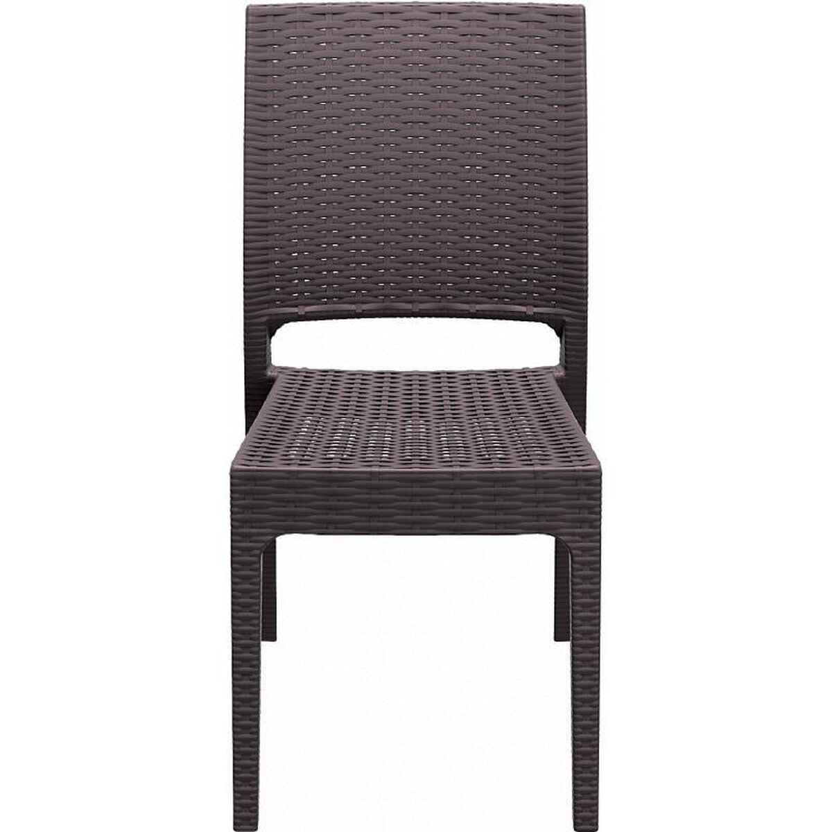 Brown Stacking Dining Chair Isp816 Br
