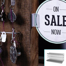 50 SuperGrip® Display Sign Holder - Set of 20 - Clear