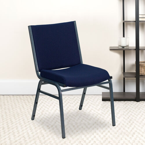 Our HERCULES Series Heavy Duty Navy Blue Dot Fabric Stack Chair is on sale now.
