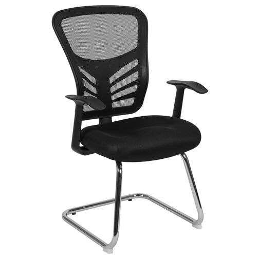 Our Black Mesh Side Reception Chair with Chrome Sled Base is on sale now.
