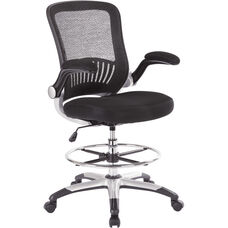 Work Smart Mesh Back Drafting Chair with Mesh Seat - Black