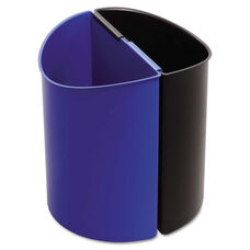 Safco® Desk-Side Recycling Receptacle - 3gal - Black and Blue