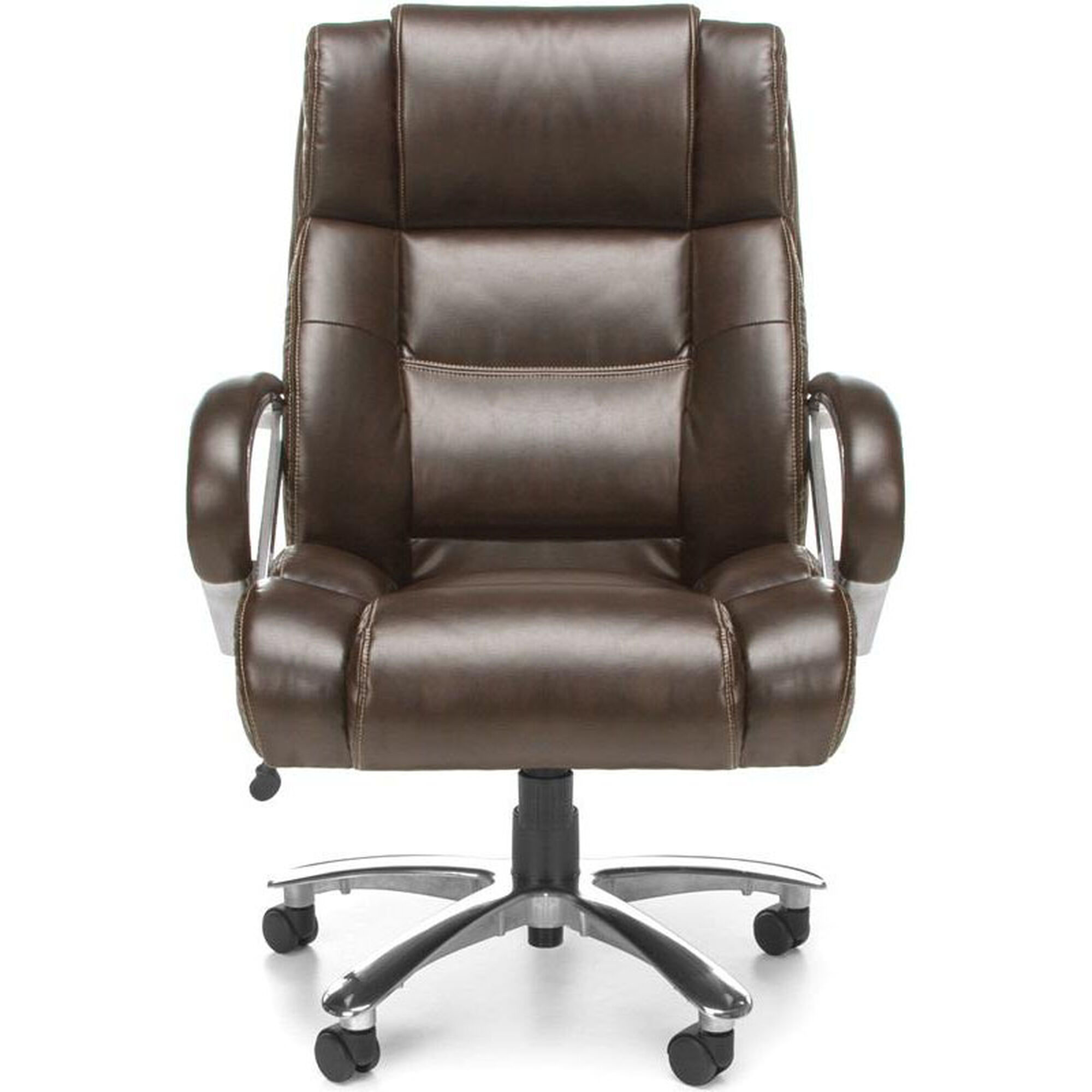 Our Avenger 500 Lb Capacity Big Tall Executive High Back Chair Brown Is Tap To Expand
