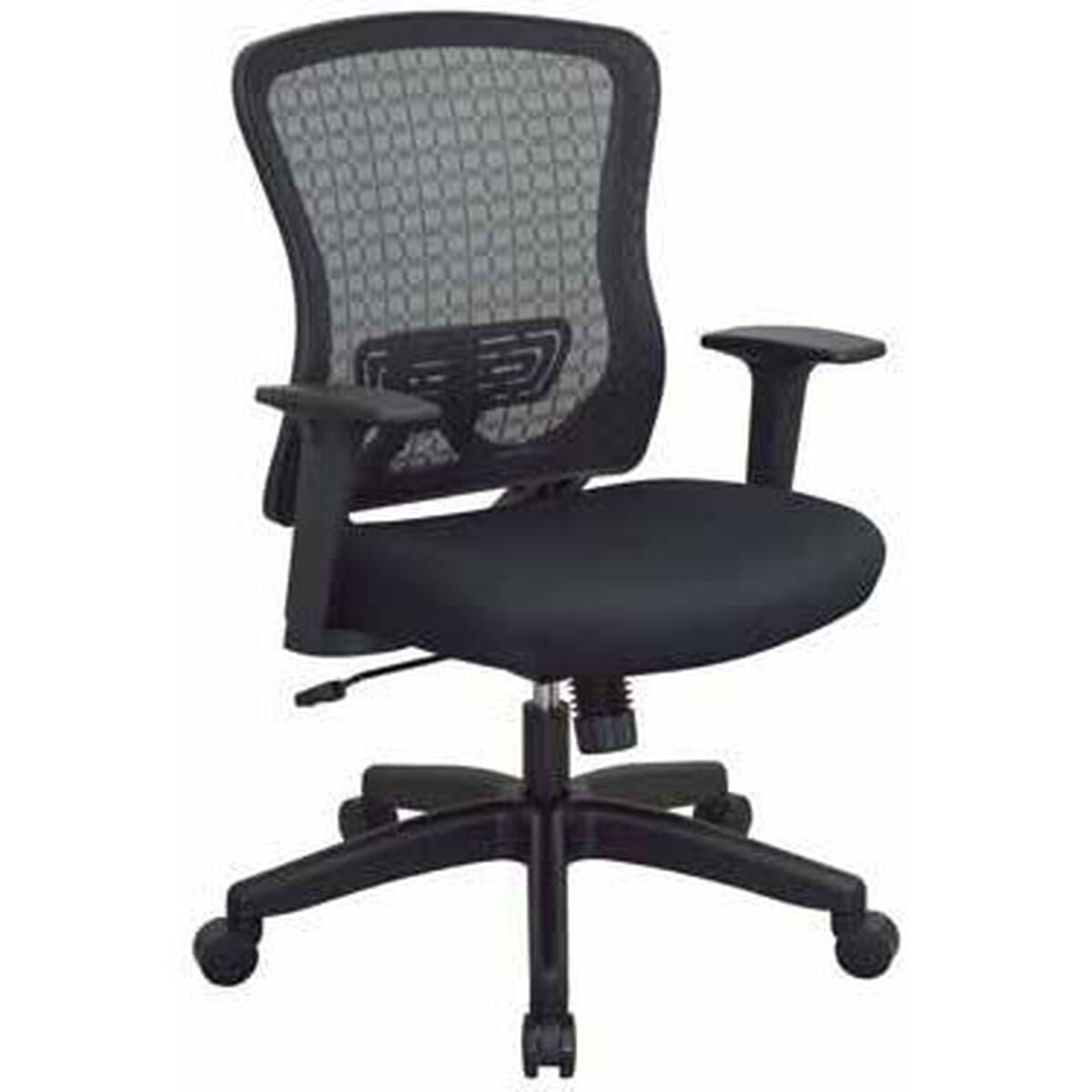 Our E Seating Chx Dark Breathable Mesh Back And Padded Seat Managers Office Chair