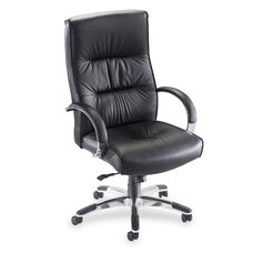 Lorell Bridgemill Leather Executive High Back Chair