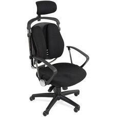 Balt Spine Aline High-Back Executive Chair with Headrest - Black Fabric
