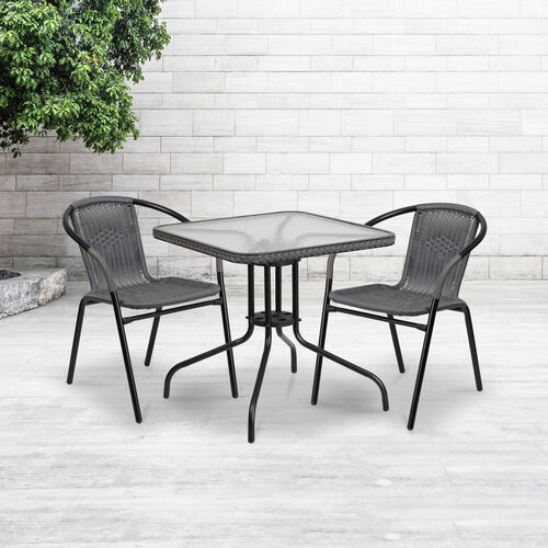 Our Gray Rattan Indoor-Outdoor Restaurant Stack Chair is on sale now.