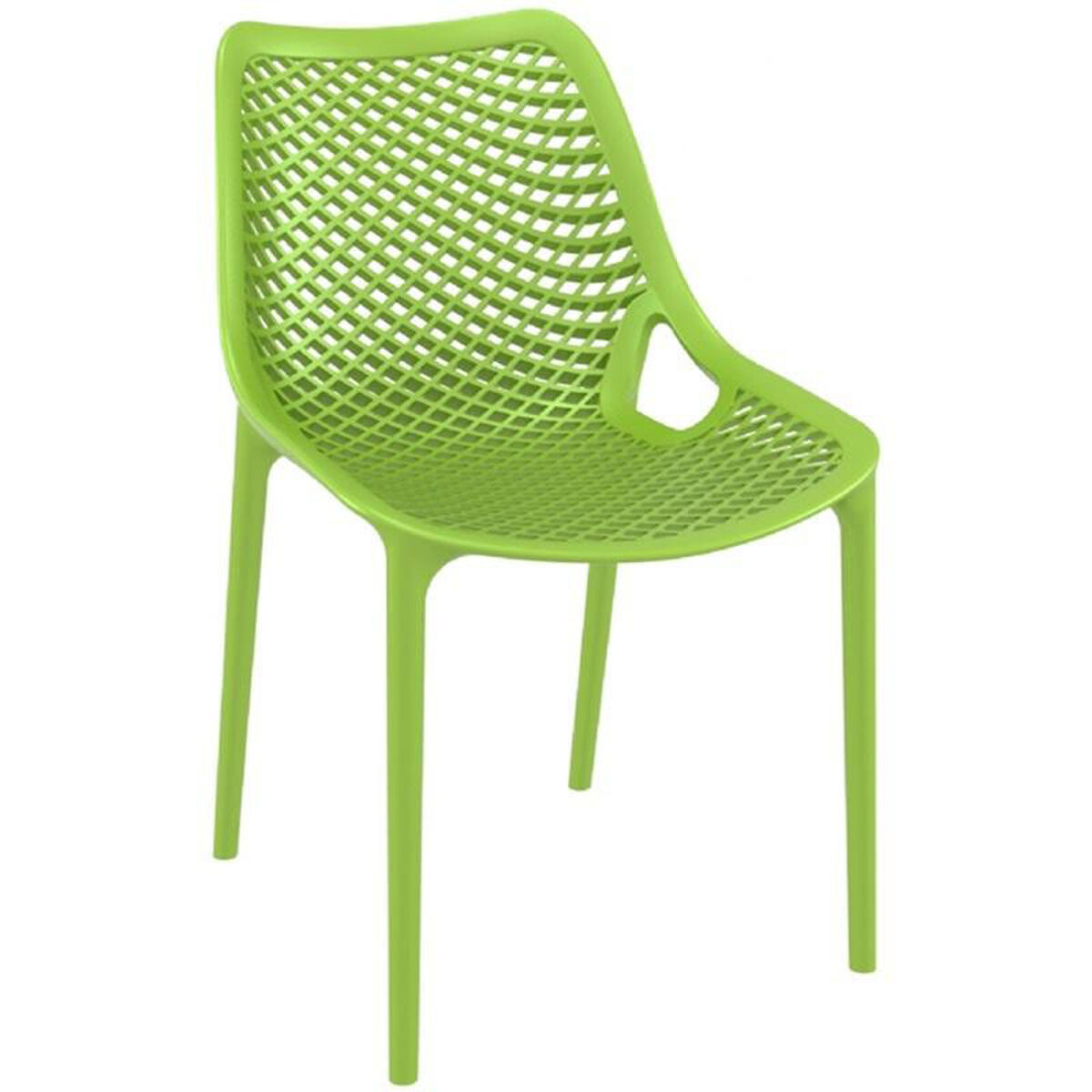 Our air modern resin outdoor dining chair tropical green is on sale now