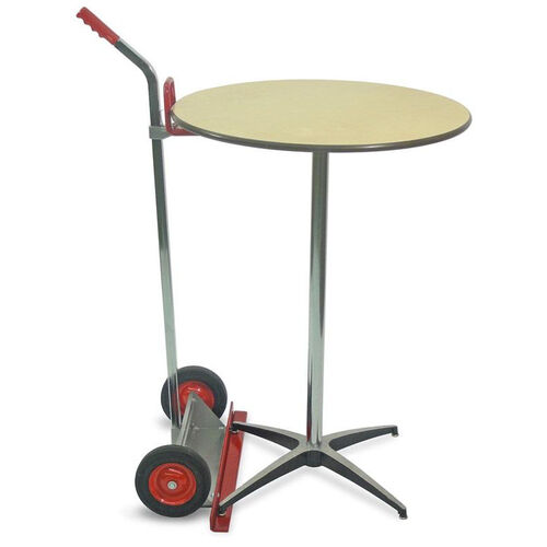 Steel Frame Bistro Table Mover with Chrome Plated Handle