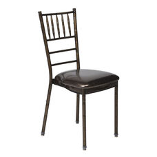 500 lb. Max Chiavari Chocolate Chair with Chocolate Vinyl Cushion